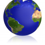 Earth planet globe map. — Stock Photo