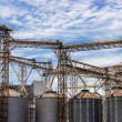 Silo on blue sky background — Stock Photo