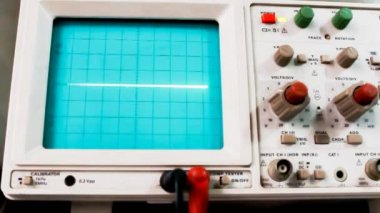 Electrical signals of an oscilloscope — Vídeo de Stock