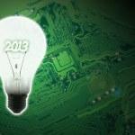 Illuminated light bulb — Stock Photo