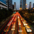 Night Traffic In Bangkok — Stock Photo