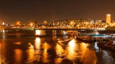 Puente de buda en la noche timelapse — Vídeo de Stock