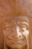 Wooden Indian — Stock Photo