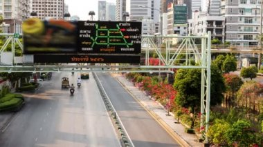 Timelapse shot of intelligent traffics system (ITS) — ストックビデオ