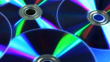 DVD discs rotating, loop able — Stock Video