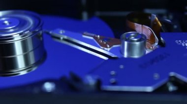 Dolly shot of Hard disk drive — Stock Video