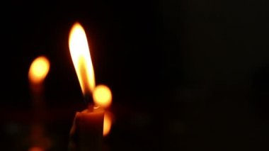 Dolly shot of Candlelight — Stock Video