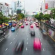Time lapse shot of Bangkok city street in the daytime — Stock Video