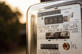 Electric meter, closeu — Stock Photo