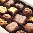 Stock Photo: Chocolate candies in the box