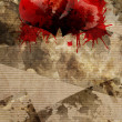 Grungy background and blood of heart — Stock Photo