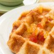 Waffles on dish — Stock Photo