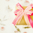 Giftbox on mulberry paper — Stock Photo