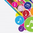 Vector of colorful music notes background — Image vectorielle