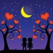 Stock Vector: Romantic night