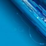 Blue digital background — Stock Vector