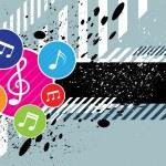 Music festival background design — Stock Vector