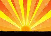 Nature of sunrise — Stock Vector