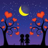 Notte romantica — Vettoriale Stock