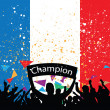 Stock Vector: Crowd cheer france