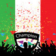 Crowd cheer Italy - Stock Vector
