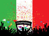 Crowd cheer Italy — Stock Vector