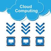 понятие облачных вычислений — Cтоковый вектор