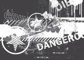 Grungy pozadí abstraktní — Stock vektor