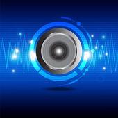 Onda de som digital de alto-falante — Vetor de Stock