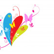 Royalty-Free Stock Imagen vectorial: Butterfly and floral