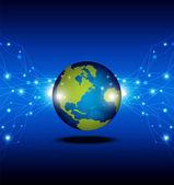 Koncepcja telekomunikacji tło — Wektor stockowy