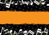 Music grunge banner design — Stock Vector