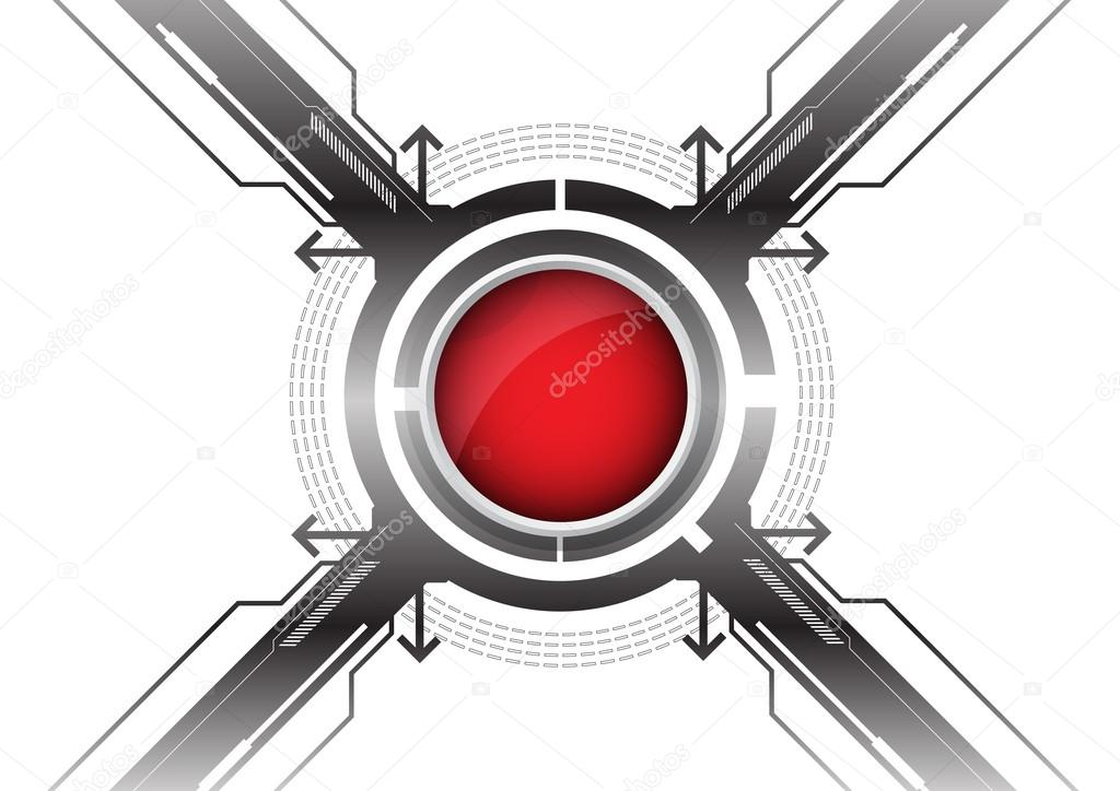 Modern red button — Stock Vector #14329971