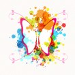Art butterfly design - Stock vektor