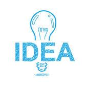 Handwriting sketch idea concept design — Stock Vector
