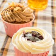 Stock Photo: Blueberry cup cake