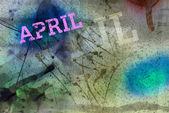 4 月个月艺术 grunge 设计 — 图库照片