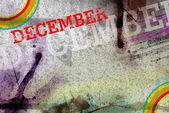 December month art grunge design — 图库照片