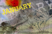 January month art grunge design — Stock Photo