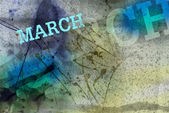 March month art grunge design — Stock Photo