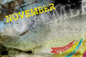 November month art grunge design — Stock Photo