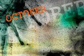 Oktober månad konst grunge design — Stockfoto