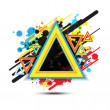 Abstract triangle background design - Image vectorielle