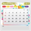 Calendar November 2013 - Stockvectorbeeld