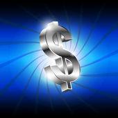 Metallic money icon — Stock Vector