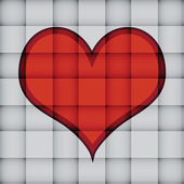 Heart on square pattern — Stock Vector
