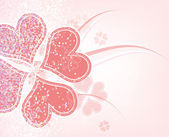 Heart flower background design — 图库矢量图片