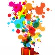 Abstract artistic anniversary celebration - Stock Vector