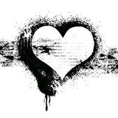 Grunge heart symbol design — Stock Vector