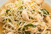 Fried bean sprouts mix tofu — Stock Photo